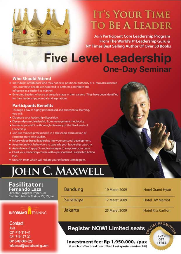 Five Level Leadership: It's Your Time To Be A Leader