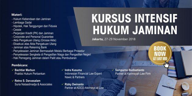 KURSUS INTENSIF HUKUM JAMINAN