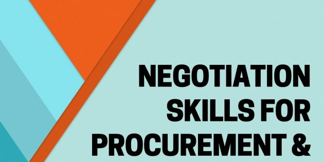 NEGOTIATION SKILLS FOR PROCUREMENT & PURCHASING – Almost Running
