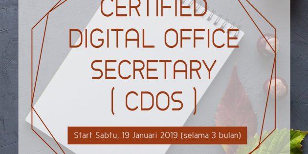 Certified Digital Office Secretary (CDOS) – Almost Running
