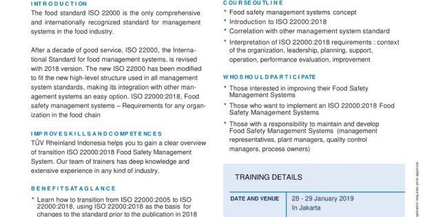 ISO 22000: 2018 – TÜV Rheinland
