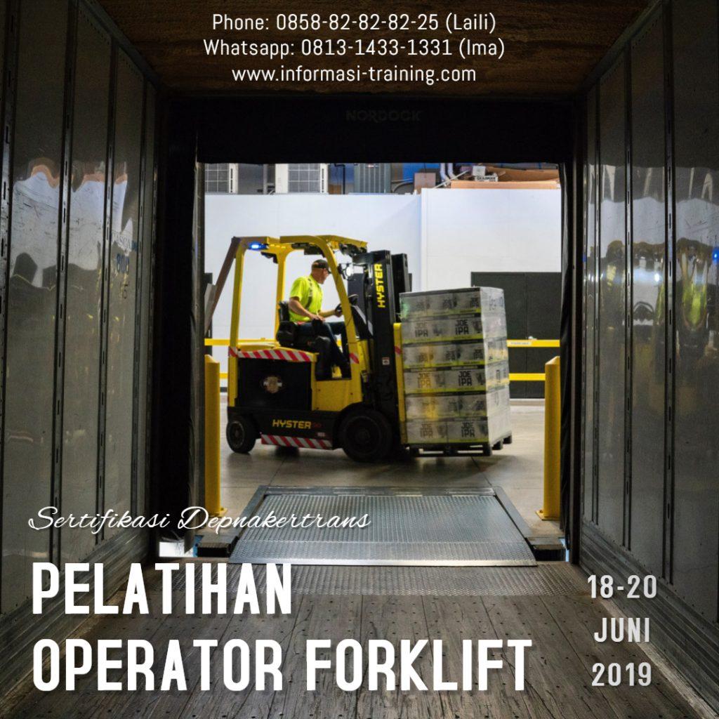 PELATIHAN & SERTIFIKASI OPERATOR FORKLIFT – Sertifikat Depnakertrans
