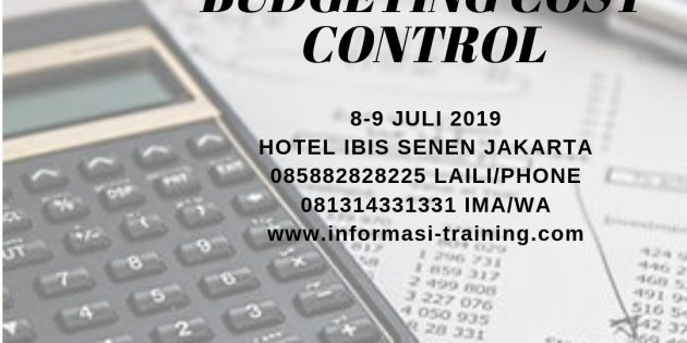 EFFECTIVE BUDGETING AND COST CONTROL – Pasti Jalan
