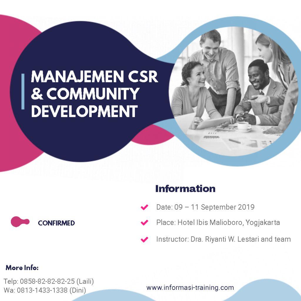 CSR dan Comdev