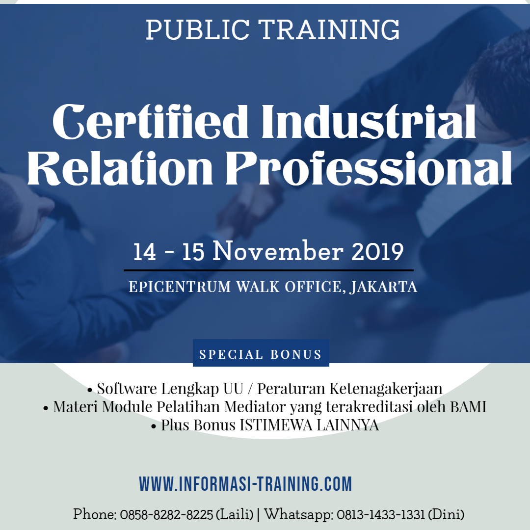 Certified Industrial Relations Professional