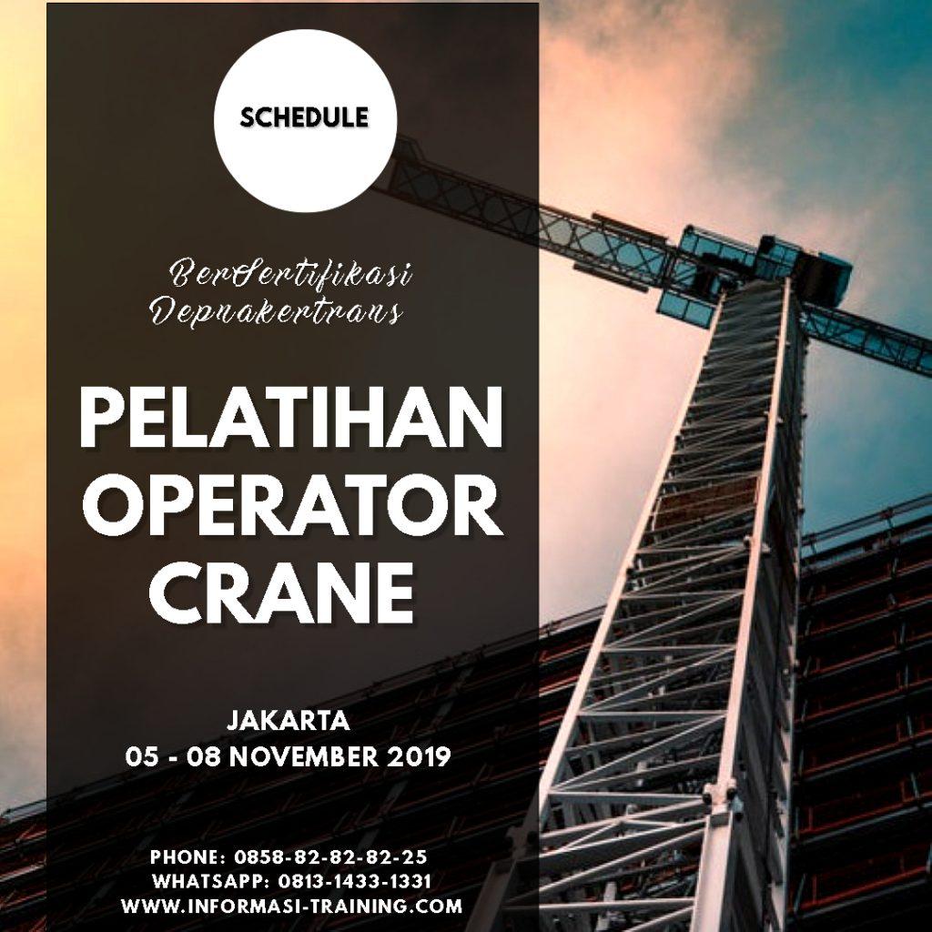 Pelatihan Operator Crane Depnakertrans Informasi Training